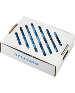 Delicatobollar för försäljning styckeförpackade, visas i låda om 50 st.