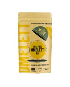 Äggfri omelettmix 250 g, bild av förpackning