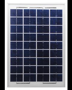 Solcell DIY 12 V 10 W polykristallint kisel (350x245x17 mm med aluminiumram, 4 monteringshål)